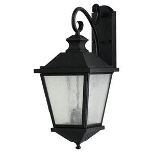 Woodside Hills Black Three-Light Outdoor Wall Lantern Light