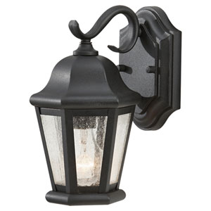 Martinsville Black Outdoor Wall Lantern Light - Width 6.25 Inches