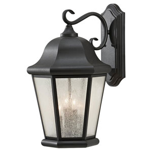 Martinsville Black Outdoor Wall Lantern Light