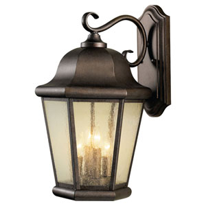 Martinsville Corinthian Bronze Outdoor Four-Light Wall Lantern