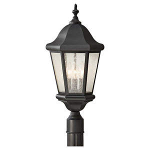 Martinsville Black Outdoor Post Light