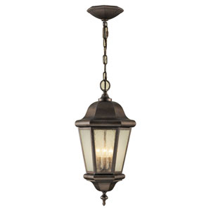 Martinsville Corinthian Bronze Three-Light Outdoor Pendant
