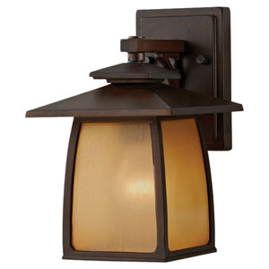 Wright House Sorrel Brown Outdoor Wall Light Fixture - Width 7 Inches