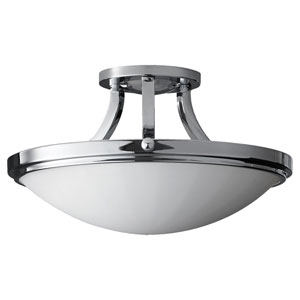 Perry Chrome Two-Light Indoor Semi-Flush Mount Fixture