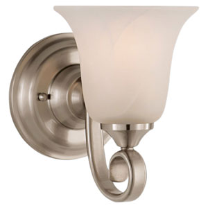 Vista Brushed Steel Vanity Fixture