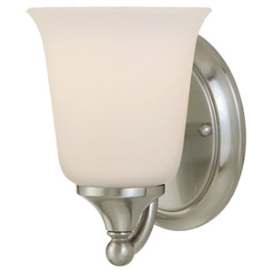 Claridge Brushed Steel Vanity Fixture