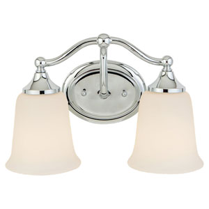 Claridge Chrome Two-Light Vanity Fixture