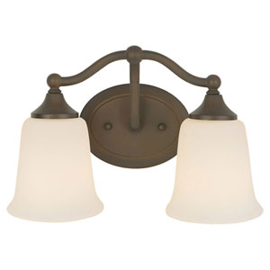Claridge Oil Rubbed Bronze Two-Light Vanity Fixture