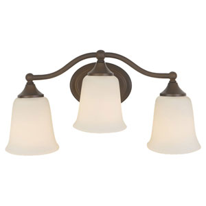 Claridge Oil Rubbed Bronze Three-Light Vanity Fixture