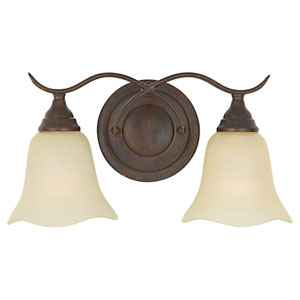 Morningside Grecian Bronze Two-Light Vanity Fixture