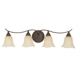 Morningside Grecian Bronze Four-Light Vanity Fixture