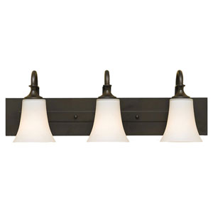 Barrington Oil Rubbed Bronze Three-Light Vanity Fixture