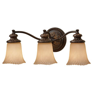 Emma Grecian Bronze Three-Light Vanity Strip