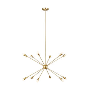 Jax Burnished Brass 38-Inch 12-Light Chandelier