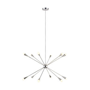 Jax Polished Nickel 38-Inch 12-Light Chandelier
