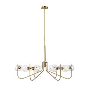 Verne Burnished Brass 12-Light Title 24 Chandelier