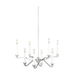 Hopton Polished Nickel 32-Inch Eight-Light Title 24 Chandelier