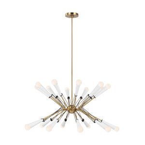 Piro Burnished Brass 20-Light Title 24 Chandelier