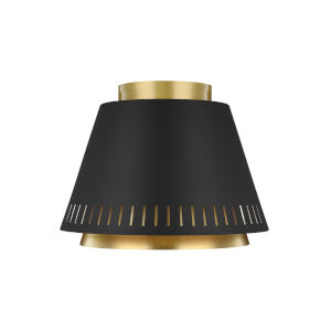 Carter Midnight Black 11-Inch One-Light Flush Mount