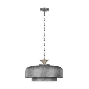 Haymarket Weathered Galvanized 24-Inch One-Light Pendant