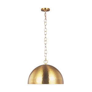Whare Burnished Brass 24-Inch One-Light Title 24 Hammered Pendant
