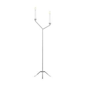 Hopton Polished Nickel Two-Light Title 24 Floor Lamp