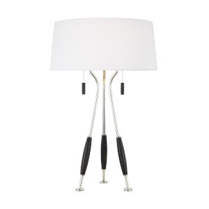 Arbur Ebony Wood Two-Light Title 24 Table Lamp