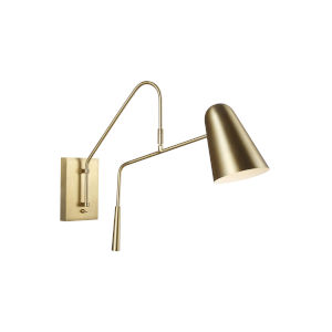 Simon Burnished Brass Five-Inch One-Light Wall Sconce