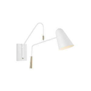 Simon Matte White Five-Inch One-Light Wall Sconce