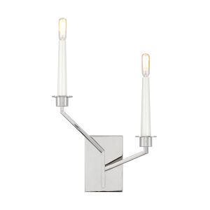 Hopton Polished Nickel Two-Light Title 24 Left Double Bath Sconce