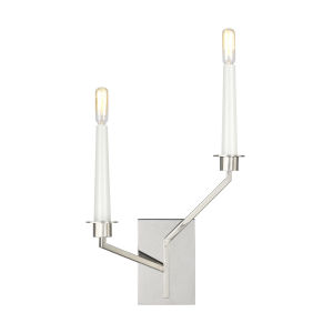Hopton Polished Nickel Two-Light Title 24 Right Double Bath Sconce