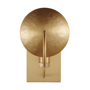 Whare Burnished Brass One-Light Title 24 Hammered Bath Vanity