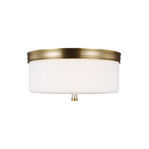 Lismore Burnished Brass 13-Inch Two-Light Flush Mount
