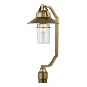 Boynton Painted Distressed Brass 11-Inch One-Light Outdoor Post Lantern