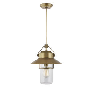 Boynton Painted Distressed Brass 13-Inch One-Light Outdoor Pendant