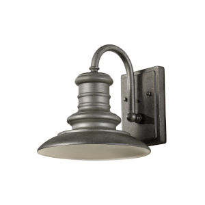 Redding Station Tarnished Silver Nine-Inch One-Light Outdoor Wall Sconce