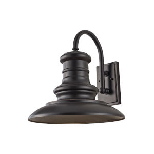 Redding Station Restoration Bronze 15-Inch One-Light Outdoor Wall Sconce