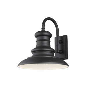 Redding Station Textured Black 15-Inch One-Light Outdoor Wall Sconce