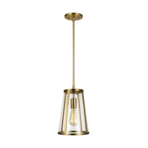 Harrow Burnished Brass Eight-Inch One-Light Mini Pendant