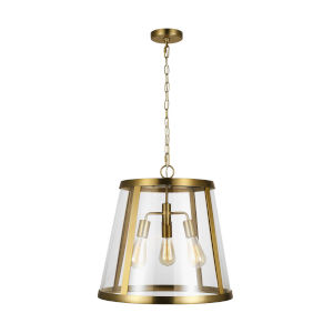 Harrow Burnished Brass 19-Inch Three-Light Pendant