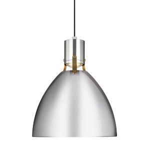 Brynne Polished Nickel 14-Inch LED Pendant