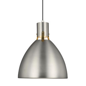 Brynne Satin Nickel 14-Inch LED Pendant