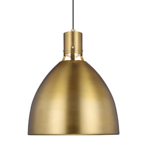 Brynne Burnished Brass 17-Inch LED Pendant