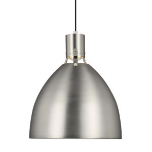 Brynne Satin Nickel 17-Inch LED Pendant