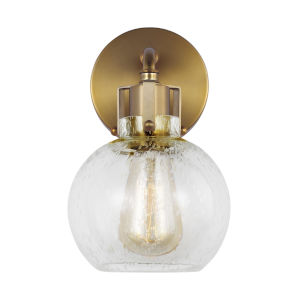 Clara Burnished Brass Six-Inch One-Light Wall Sconce