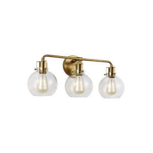 Clara Burnished Brass 24-Inch Three-Light Bath Vanity