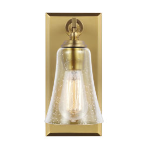 Monterro Burnished Brass Five-Inch One-Light Wall Sconce