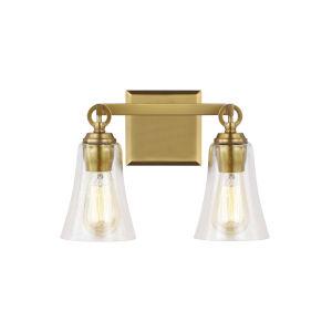 Monterro Burnished Brass 13-Inch Two-Light Bath Vanity