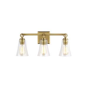 Monterro Burnished Brass 22-Inch Three-Light Bath Vanity