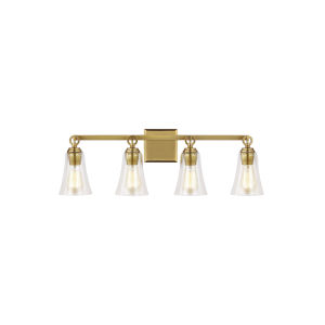 Monterro Burnished Brass 30-Inch Four-Light Bath Vanity